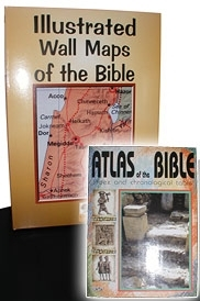 Illustrated Wall Maps of the Bible <br> Atlas of the Bible FREE with each Set!